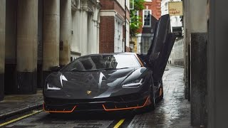 First Lamborghini Centenario in London engine sounds on set of Transformers with Michael Bay!