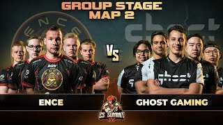 ENCE vs Ghost, Map 2 Overpass - cs_summit 4: Group Stage