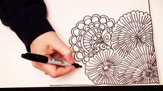 ASMR Doodling (Quality sound, ASMR drawn in real time, Doodling, Zentangle, No Speaking, YouTube)