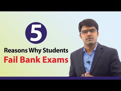 5 Reasons Why Students Fail Bank Exams    Banking Careers