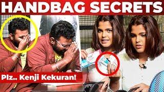 Ashiq's Reaction to TAMPONS! Pooja Devariya Handbag Secrets Revealed | What's Inside the HANDBAG