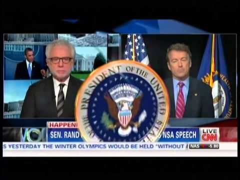 Sen. Paul Responds to President Obama's NSA Speech- January 17, 2014