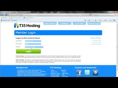 T35 Hosting - Free Web Hosting Video Tutorial: Creating an Index