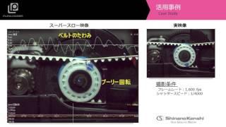 ハイスピードカメラ+データロガー 「ベルトのたわみ」