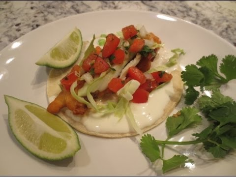 Crispy Beer Battered Fish Tacos with Pico De Gallo