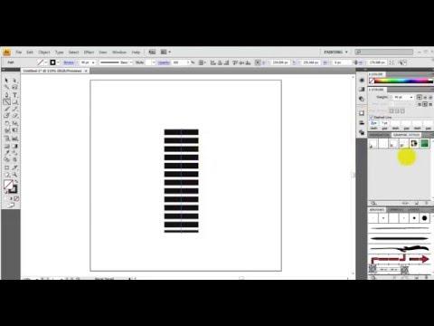 Иллюстратор как сделать пунктирную линию