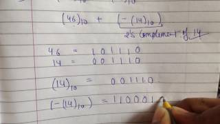 binary subtraction using 2's complement