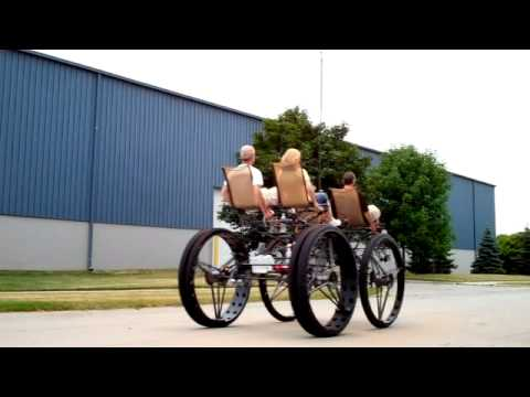 "Four person, four wheel ""big bike"" - with Flame Effect 01"
