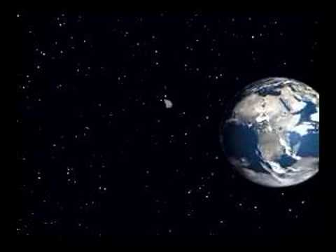 Asteroid Hitting Asteroid Hits Earth Animation