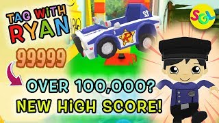 Over 100,000! NEW HIGH SCORE! TAG WITH RYAN Ryan ToysReview Game App 2019 | Super Rare Ryan | SGL
