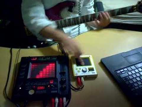 Kaossilator vs HeavyMetal Guitar