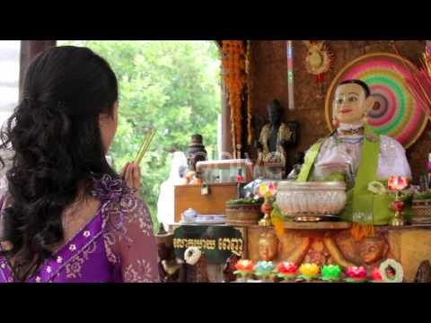 Stock Footage - Asian Girl Praying In Temple - Cambodia 3 | VideoHive