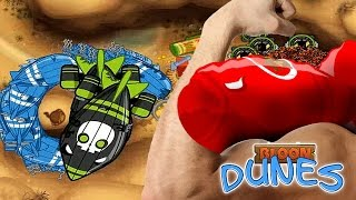 BMC - City Level 16 - Double BFB with round 6 Moab - Stone Island Map - Bloon Dunes