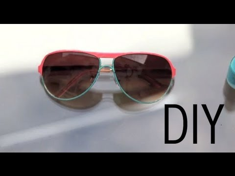 DIY Colour Block Sunglasses