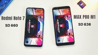 Redmi Note 7 vs Asus Max Pro M1 Speed Test, Benchmark and RAM Management | Snapdragon 660 vs 636