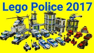 Lego Police car Toys 2017 : 60135 - 60143 (All) Time Lapse Stopmotion Build