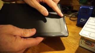 "Kindle Fire HDX 8.9""  Standing Leather Origami Case Review"