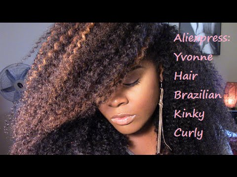 Aliexpress: Yvonne Hair Company | Brazilian Kinky Curly | Unboxing & Review