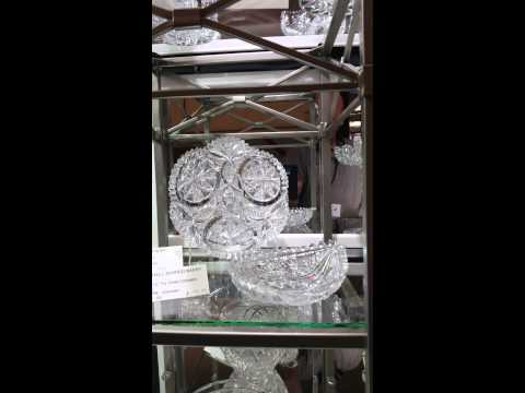 San Mateo Ca. 9-2015 Cut Glass display.