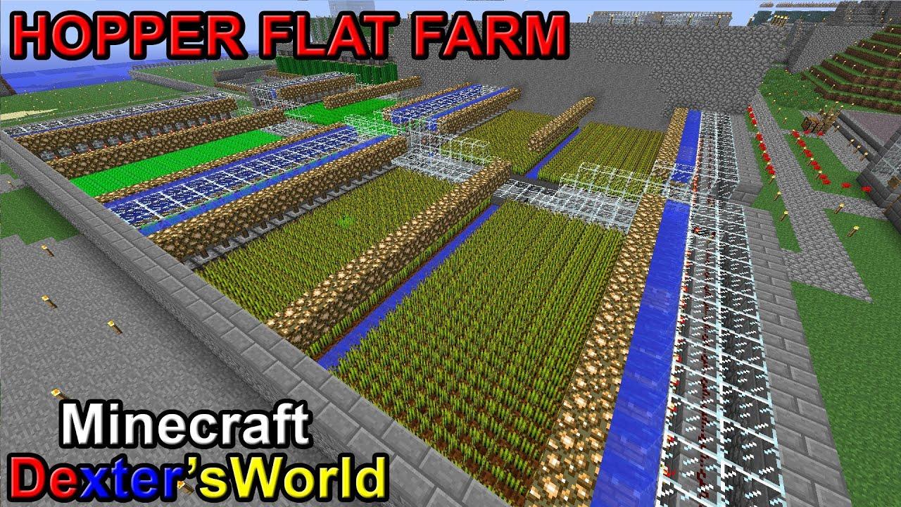 Minecraft Hopper Farm Wheat