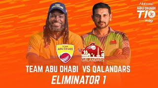 Match 26 I Eliminator 1 I Day 9 I HIGHLIGHTS I Team Abu Dhabi vs Qalandars I Abu Dhabi T10 Season 4