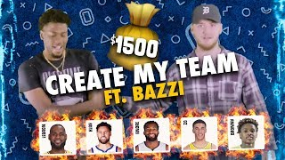 Bronny James & LeBron On The SAME TEAM!? Singer Bazzi Drafts LEGENDARY Team With $1,500 💰