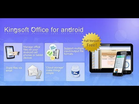 Edita tus documentos de office desde Smartpone o Tablet android con Kingsoft Office