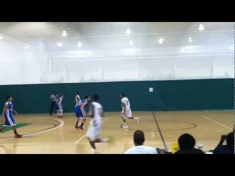 Kamau Stokes #2 PG mature offensive shot fake to draw foul (class of 2014)