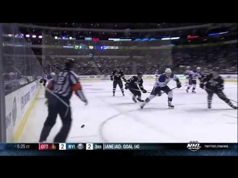 Adam Cracknell eats the boards at full speed Mar 3 2013 St. Louis Blues vs Dallas Stars NHL Hockey