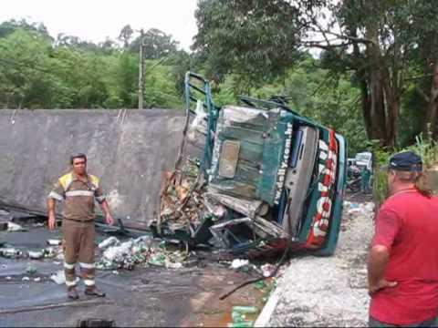 vitima fatal acidente caminhao