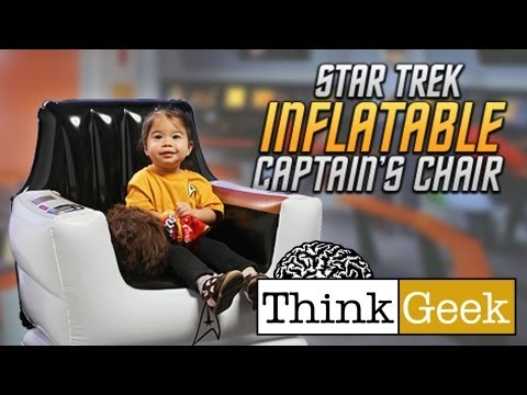 Star Trek Inflatable Captain s Chair from ThinkGeek