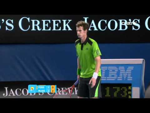 Australian Open 2011 Semifinal David Ferrer vs Andy Murray 3rd   4th Set FULL
