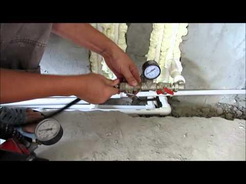 Как сделать опрессовку труб в частном доме
