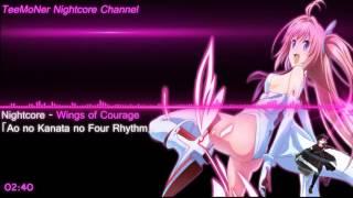 Nightcore - Wings of Courage「Ao no Kanata no Four Rhythm」
