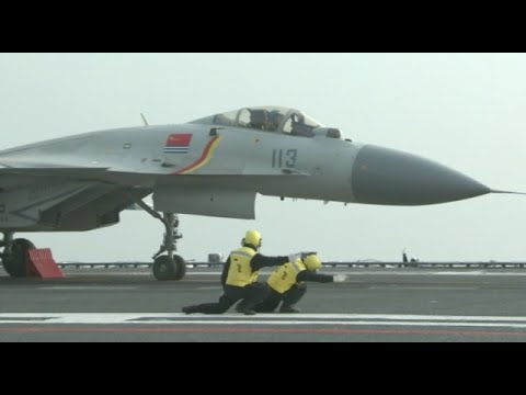 Chinese Navy Conducts Aircraft Carrier Drill in Bohai Bay