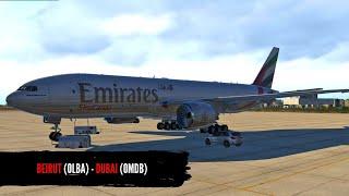 X-PLANE 11 || BEIRUT (OLBA) - DUBAI (OMDB)