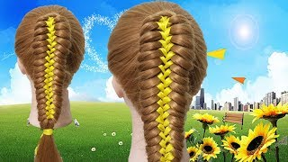 Beautiful Hairstyles Compilation 2018,Easy cute ribbon hairstyle, Hair glamour Styles