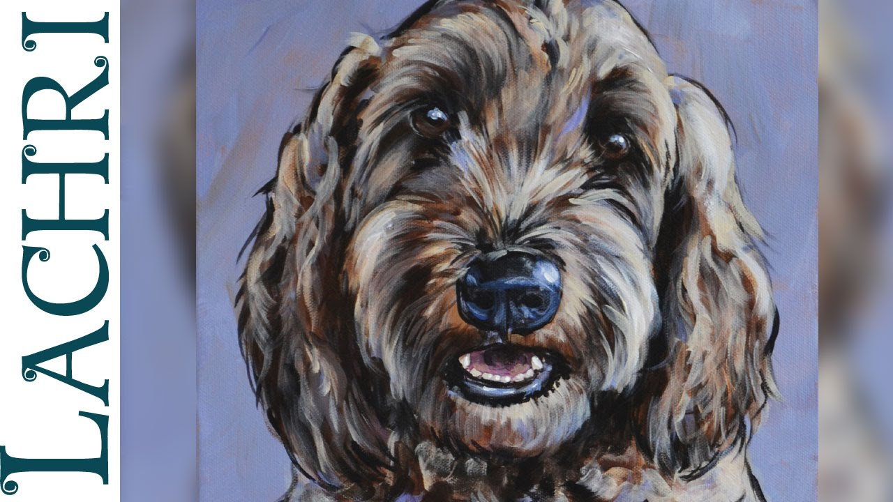 Speed Painting Impressionistic Dog Portrait In Acrylic