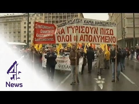 Presidential vote shakes markets in Greece | Channel 4 News