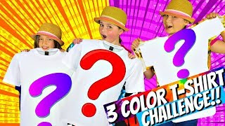 3 COLOR TIE DYE Challenge!!!    Kids Play Fun Mystery Color Challenge Game!