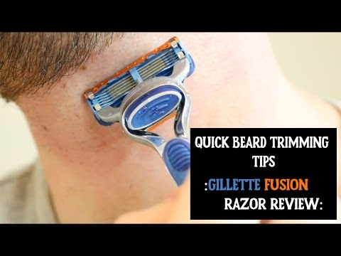 Quick Beard Trimming Tips I Gillette Fusion Review