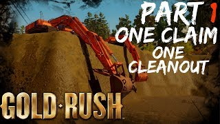 Gold rush the game {ONE CLAIM ONE CLEANOUT PT 1}