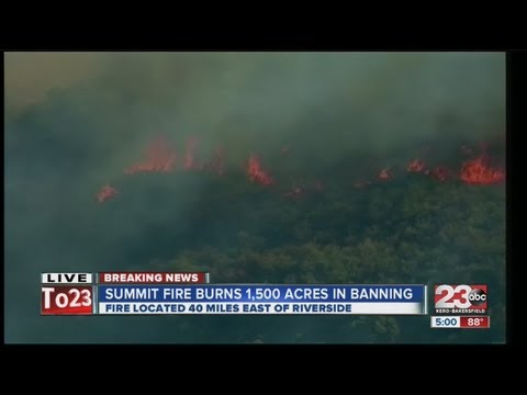 Summit Fire burns in Banning