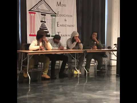 Panel with Krs One, Taj Bey, Abdulla Bey my self in Louisville
