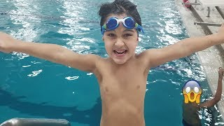 Kid swimming in the pool || Family Fun Pool Time  Kids swimming lessons  #JaiBistaShow
