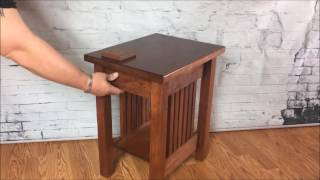 Hidden Compartment End table by TOP SECRET FURNITURE -secret-hidden compartment