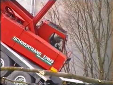 Enns Austria Kranunfall Crane Accident