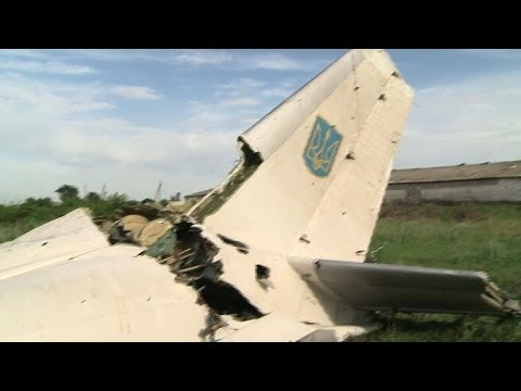 Ukraine says military plane 'likely' shot down from Russia