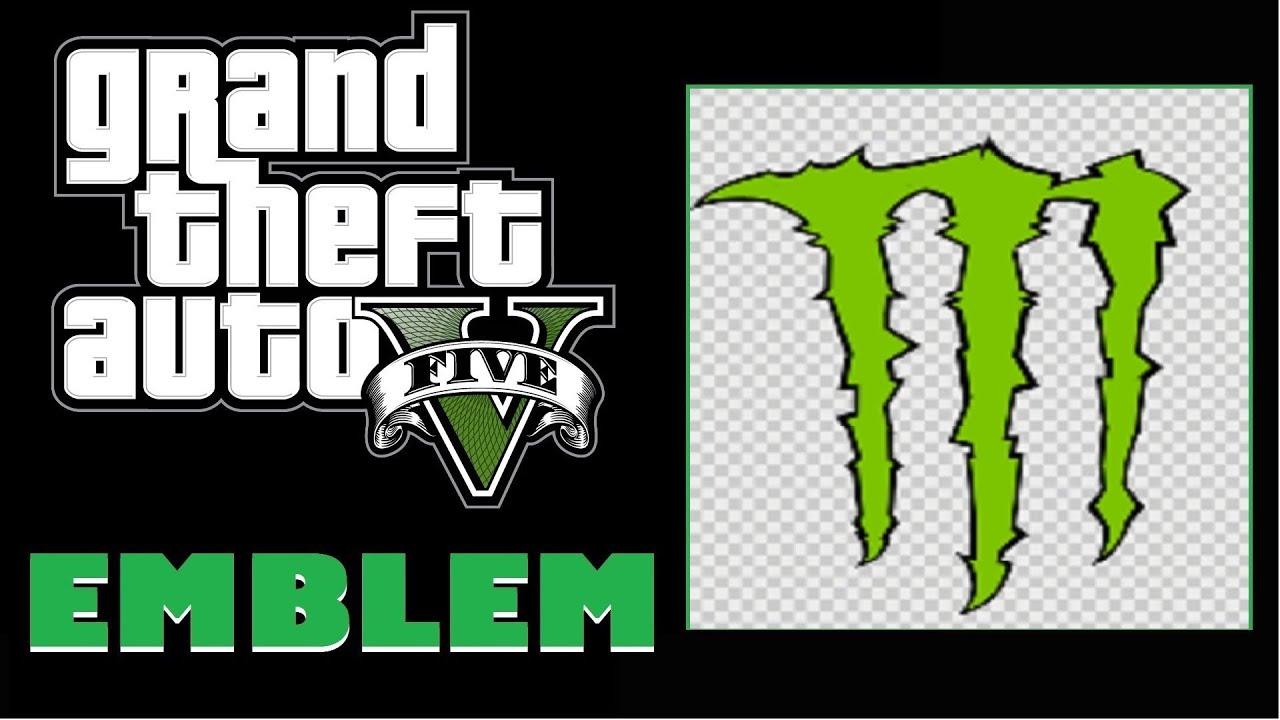 Grand Theft Auto 5 / GTA 5 : Monster Energy Logo Emblem