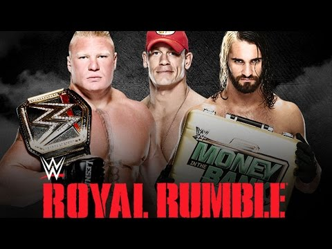 John Cena vs. Seth Rollins vs. Brock Lesnar - Royal Rumble WWE 2K15 Si...